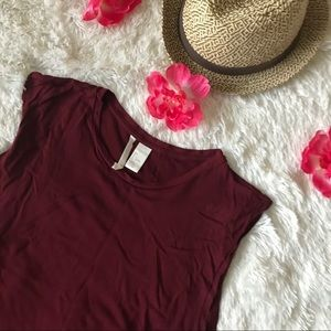 H&M Basic Maroon Sleeveless T - Shirt  Maxi Dress